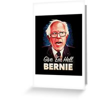 Bernie Sanders 2016 on black Greeting Card