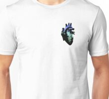 Proquuromantic/Proquusexual Pride Heart (with black detail) Unisex T-Shirt