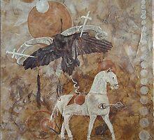Eternally Ravenous - Crucified Venus by scallyart