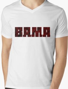 Alabama Football Flowers (Color II) Mens V-Neck T-Shirt