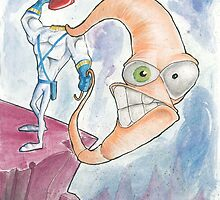 """Earthworm Jim """"Whip It"""" by solarflarepro"""