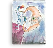 "Earthworm Jim ""Whip It"" Canvas Print"