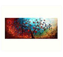 The Red & Blue Fruit Art Print