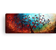 The Red & Blue Fruit Canvas Print