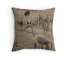 Little Egret Throw Pillow