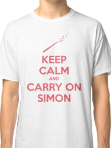 Keep Calm and Carry On Simon (Pink Text) Classic T-Shirt