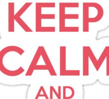 Keep Calm and Carry On Simon—Pink Text Sticker