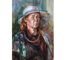 woman in a hat Photographic Print