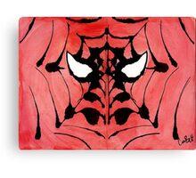 Rorschach Spiderman Canvas Print