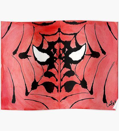 Rorschach Spiderman Poster