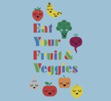 Eat Your Fruit & Veggies lll dark Kids Clothes
