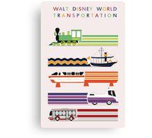 Walt Disney World Transit Poster Canvas Print