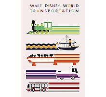 Walt Disney World Transit Poster Photographic Print