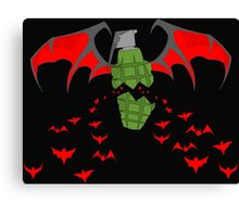 Bat Grenade Canvas Print