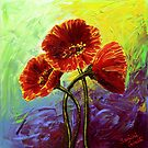 Red Poppy Trio by sesillie