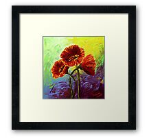 Red Poppy Trio Framed Print