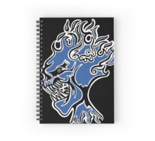 Flaming Head Blue  Spiral Notebook