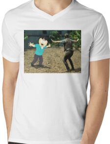 Jurassic World Randy Mens V-Neck T-Shirt