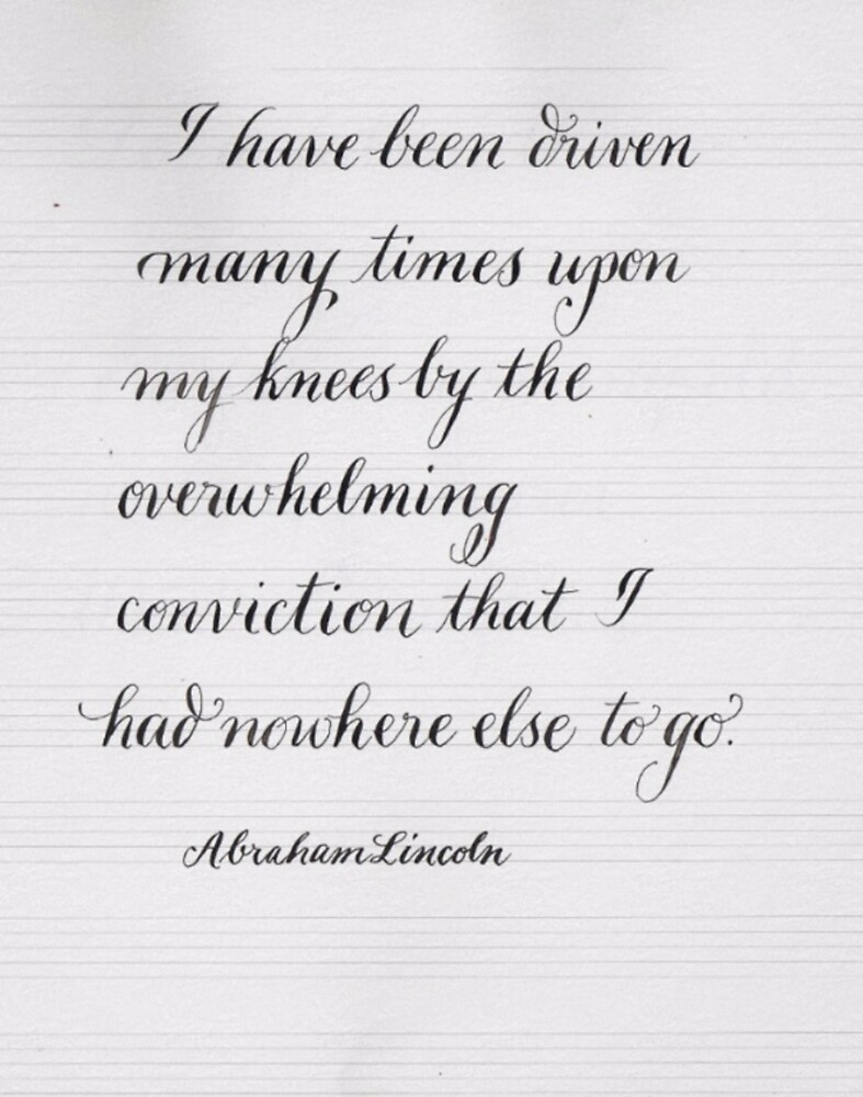 Inspirational Abraham Lincoln quote by Melissa Goza