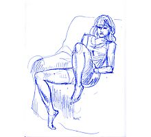 girlsketch1 Photographic Print