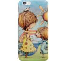 sun and sea iPhone Case/Skin