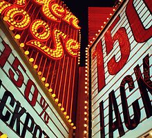 150% Jackpot - Fremont Street, Las Vegas by Tony Edwards