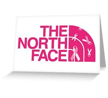 North Face - Breast Cancer Edition  Greeting Card