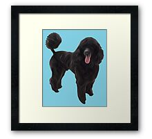 Black Poodle Oil Painting Style Framed Print