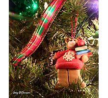 Christmas Bear Ornament Photographic Print