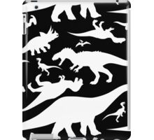 Black and White Dinosaur Pattern iPad Case/Skin