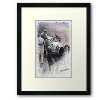 Auto Union B type 1935 Italian GP Monza B Rosermeyer Framed Print
