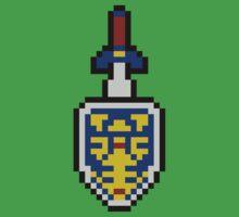 Pixel Fighter's Shield by Gevork Sherbetchyan