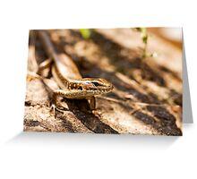 Reptilian Model Greeting Card