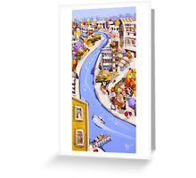 Blue river Greeting Card