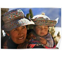 WOMAN AND CHILD FROM COLCA II Poster