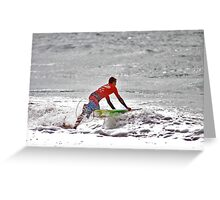 Diving In Greeting Card