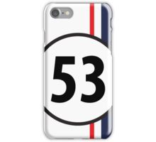 Classic racing graphic - HERBIE iPhone Case/Skin