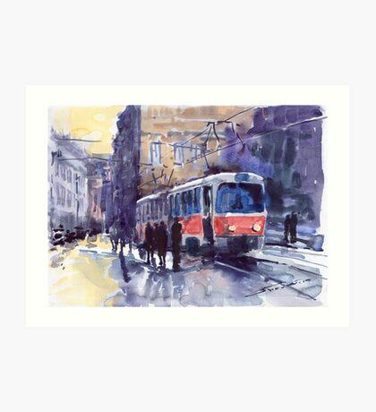 Prague Tram 02 Art Print