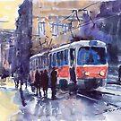 Prague Tram 02 by Yuriy Shevchuk