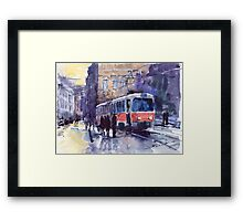 Prague Tram 02 Framed Print