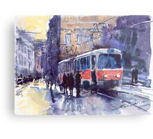 Prague Tram 02 Metal Print