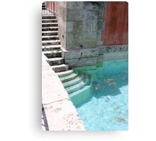 Solemn Pool- Miami Canvas Print