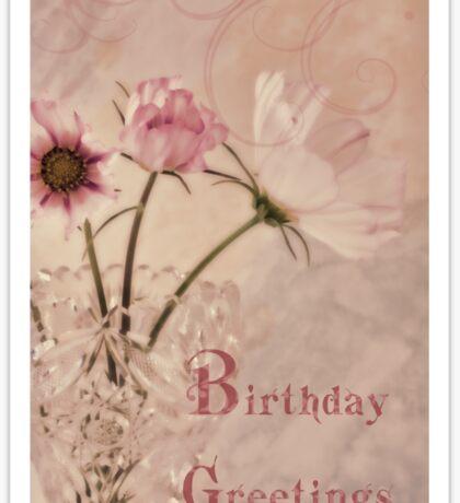 Birthday Greetings - Cosmos Sticker