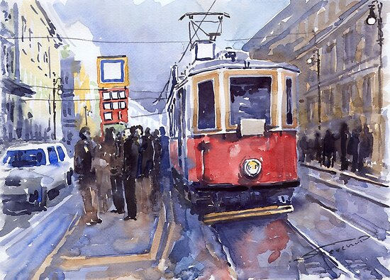 Prague Old Tram 03 by Yuriy Shevchuk