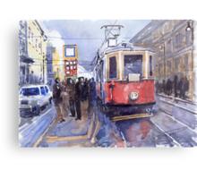 Prague Old Tram 03 Metal Print