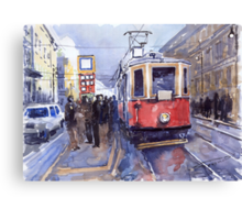Prague Old Tram 03 Canvas Print