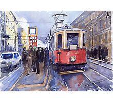 Prague Old Tram 03 Photographic Print