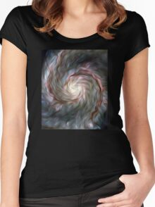 Nebula Brush Strokes Women's Fitted Scoop T-Shirt