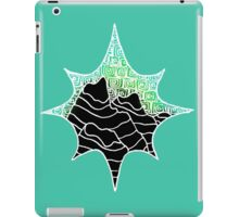 Star II: Black/Green  iPad Case/Skin