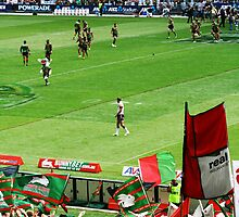 Rabbitohs supporters and team at opening game. by lu138